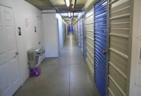 Interior view of self storage units in Yuma, AZ