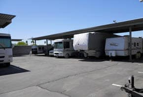 RV parking at American Self Storage in Yuma, AZ