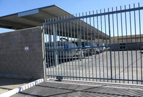 Gated entry to American Self Storage in Yuma, AZ