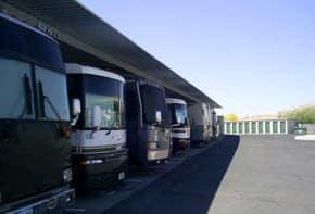 RV storage at Green Valley RV and Self Storage in Green Valley, AZ