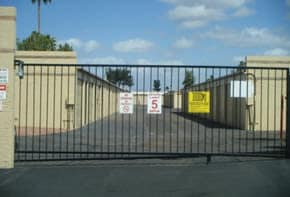Gated entry to Greenway Mini Storage in Peoria