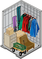 5x8 Storage Unit Size at All Secure Storage