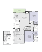 Printable floor plan Grand Prize at Briar Cove Terrace Apartments