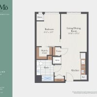 The One Bedroom Alt B floor plan image