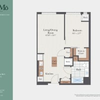 The One Bedroom Alt A floor plan image