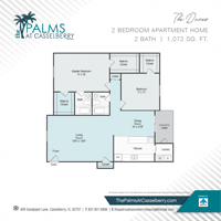 Two Bedroom, The Dunes at The Palms at Casselberry in Florida