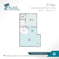 One Bedroom, The Cottage, at The Palms at Casselberry in Florida