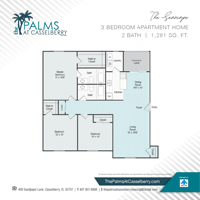 Three Bedroom, The Seascape, at The Palms at Casselberry in Florida