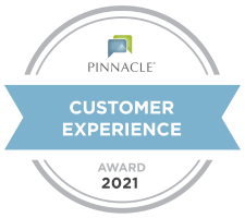 Pinnacle Customer Experience Award 2021 for Memory Haven