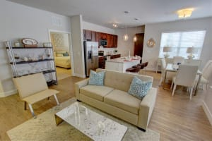 Main living are at The Pointe at Dorset Crossing in Simsbury, Connecticut