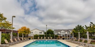 Outdoor Entertainment Area at Lakeview Townhomes at Fox Valley