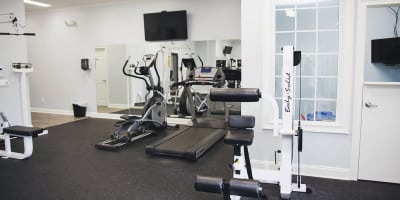Fitness Center at apartments in Byron, Georgia