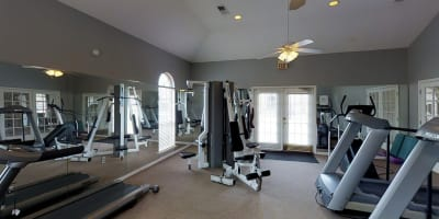 Fitness Center at apartments in Olive Branch, Mississippi