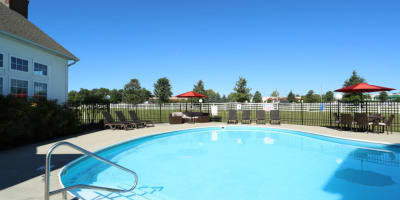 Swimming pool at apartments in Grove City, Ohio