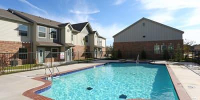Swimming pool at apartments in Norman, Oklahoma