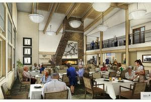 Juniper Springs Senior Living offers a dining area in Redmond, OR