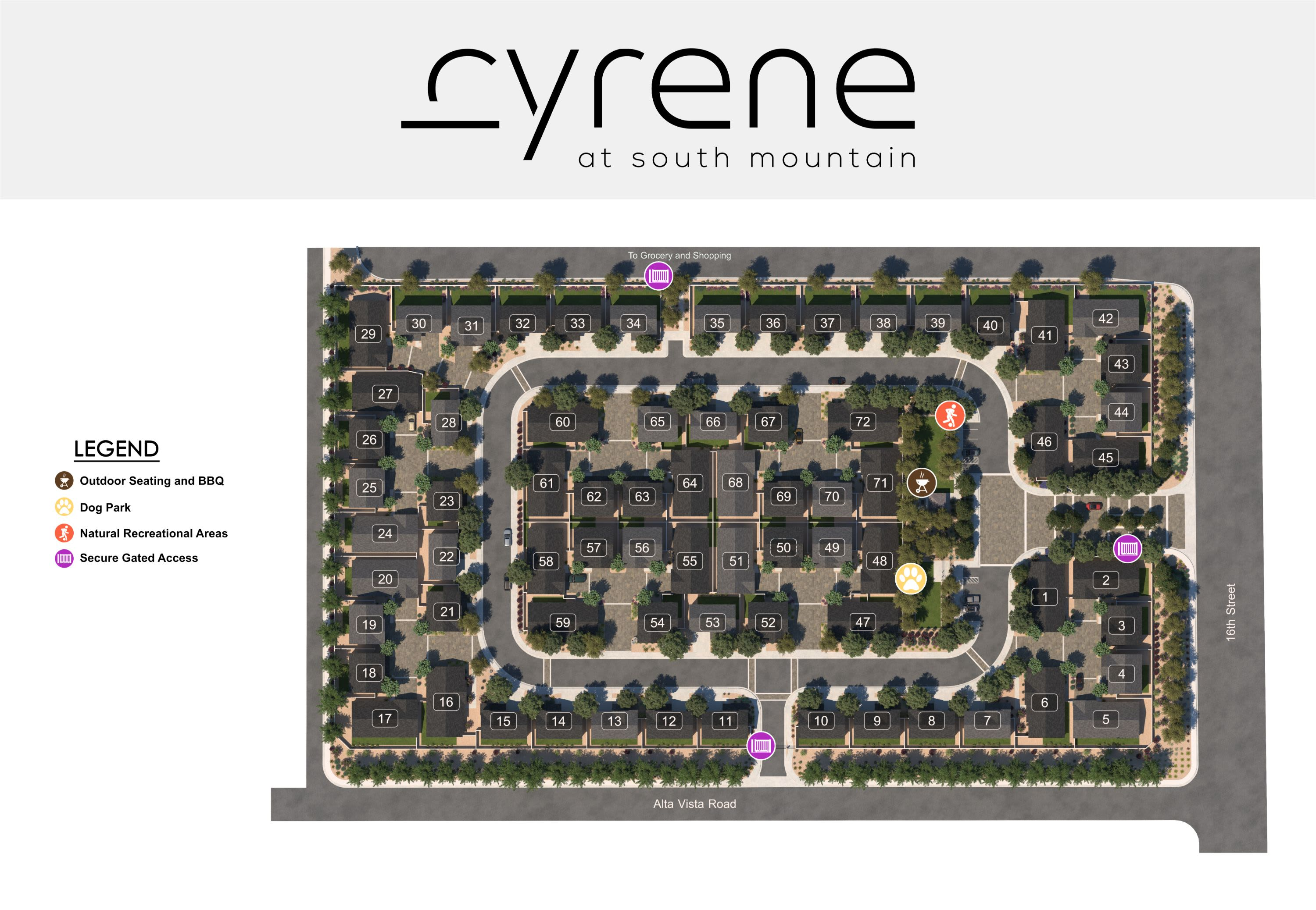 Cyrene at South Mountain site plan