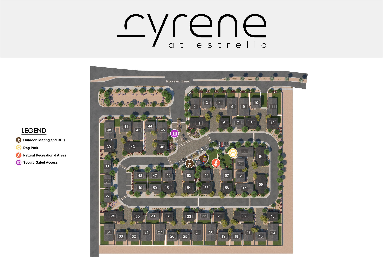 Cyrene at Estrella site plan