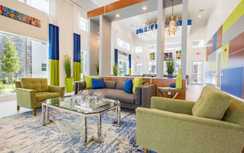 Comfortable seating in the clubhouse at Luma at Miramar in Miramar, Florida