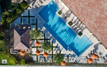 Aerial Pool View at Luma at Miramar in Miramar, Florida