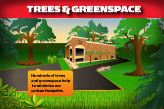 Trees and Greenspace info card for Mallory Station Storage