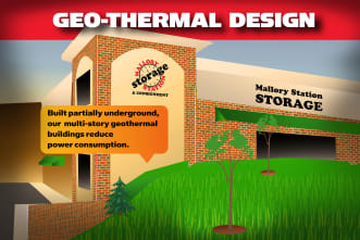 Geo-thermal design info card for Mallory Station Storage