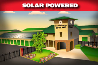 Solar Powered info card for Mallory Station Storage