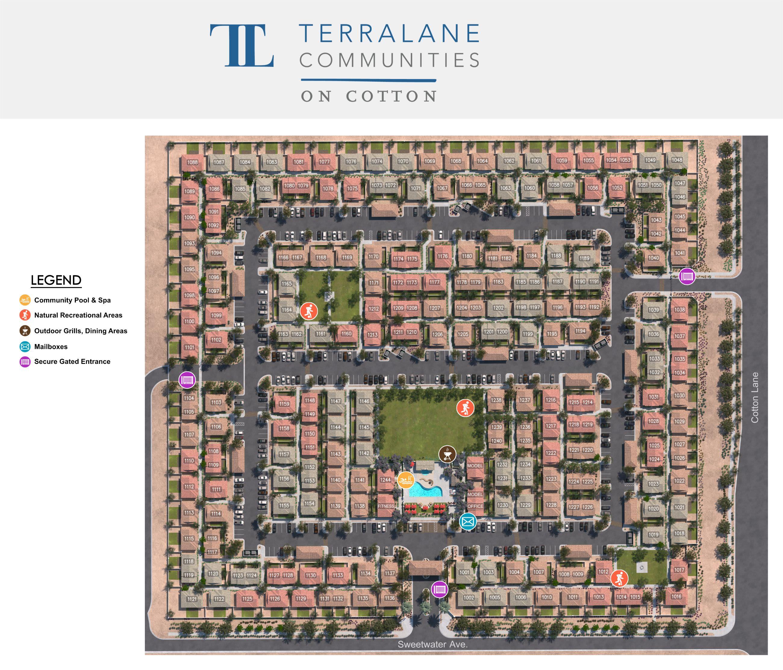 TerraLane on Cotton site plan