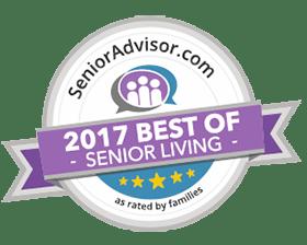 Chestnut Knoll Wins 2017 Best of Senior Living Award from SeniorAdvisor.com