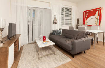 Model Living Room at Lola Apartments in Riverview