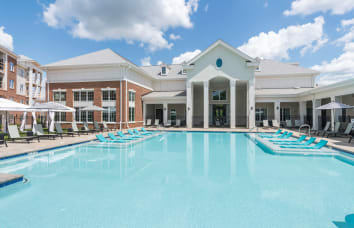 Swimming pool at our luxury apartments in Fredericksburg, Virginia