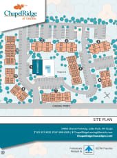 Site map of Chapel Ridge at Chenal in Little Rock, Arkansas