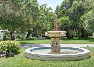 The fountain at Summerfield Senior Living in Bradenton, Florida