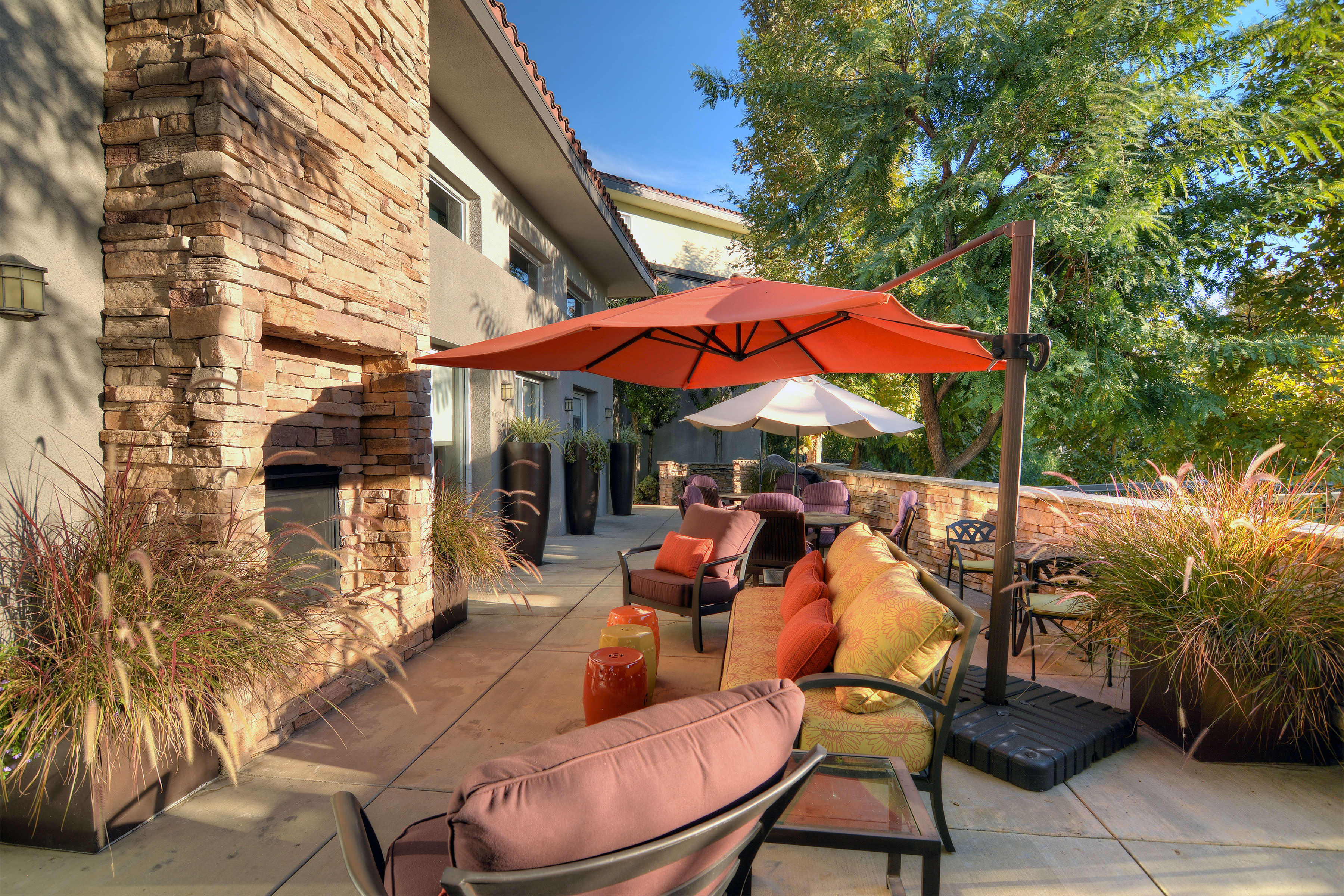 Outdoor patio at Regency Grand at West Covina in West Covina, California