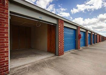 View of exterior storage units at Metro Self Storage in Addison, Illinois