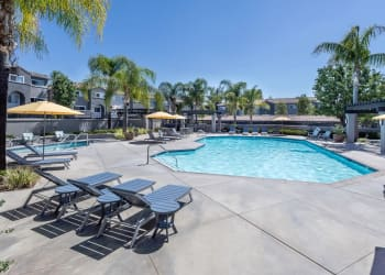 Swimming pool at apartments in Mission Viejo