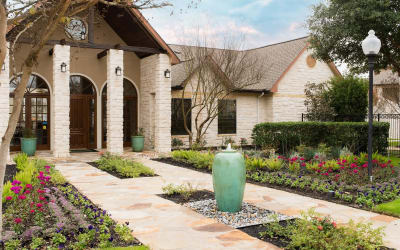 Front entrance at Park Hudson Place in Bryan, Texas
