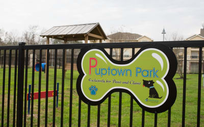 Dog park at Park Hudson Place in Bryan, Texas