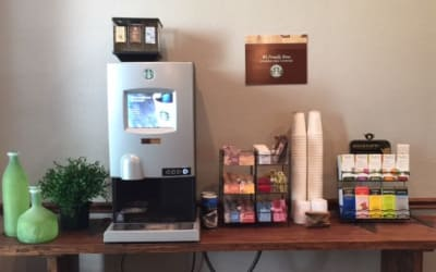 Coffee bar at Park Hudson Place in Bryan, Texas