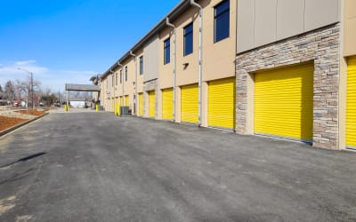 Drive up units at Storage Star in Fort Collins, Colorado.
