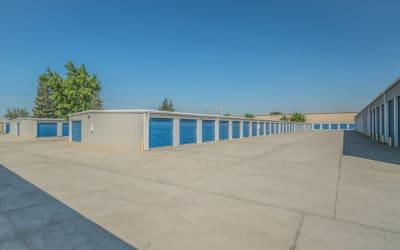 View of outdoor storage units at Storage Star Salida in Salida, California