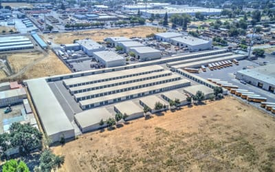 Aerial view to Storage Star Woodland in Woodland, California