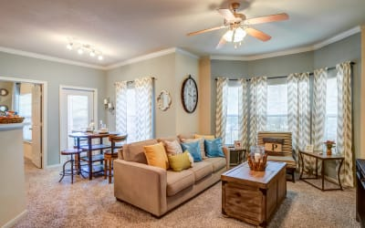 Living Room at Park Hudson Place in Bryan, Texas