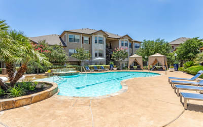 Pool available at Park Hudson Place in Bryan, Texas