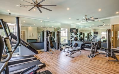 Enjoy the fitness center at Park Hudson Place in Bryan, Texas