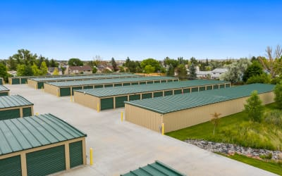 Aerial view of outdoor units at Storage Star Cheyenne in Cheyenne, Wyoming