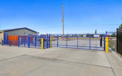Locking gate to exit at Storage Star Cheyenne in Cheyenne, Wyoming