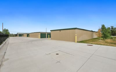 Large outdoor units at Storage Star Cheyenne in Cheyenne, Wyoming