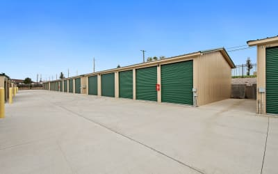 View of row of outdoor units at Storage Star Cheyenne in Cheyenne, Wyoming