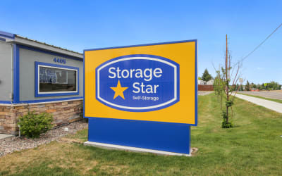 Front entry sign at Storage Star Cheyenne in Cheyenne, Wyoming